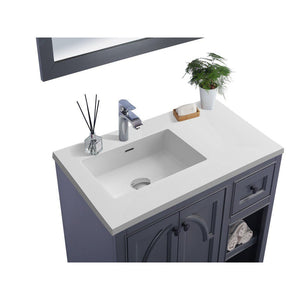 "Laviva Odyssey 36"" Cabinet with Matte White VIVA Stone Solid Surface Countertop Laviva Vanities"
