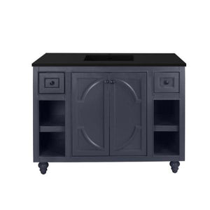 "Laviva Odyssey 48"" Cabinet with Matte Black VIVA Stone Solid Surface Countertop Laviva Vanities Maple Grey"