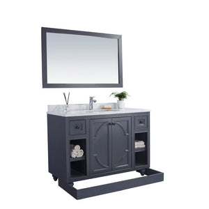 "Laviva Odyssey 48"" Cabinet with Matte Black VIVA Stone Solid Surface Countertop Laviva Vanities"