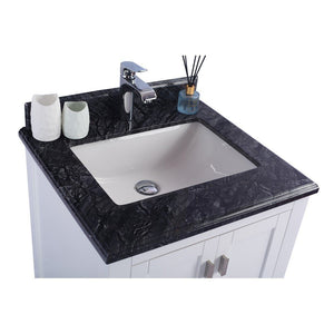 "Laviva Wilson 24"" Cabinet with Black Wood Countertop Laviva Vanities"