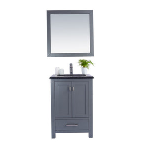 "Laviva Wilson 24"" Cabinet with Black Wood Countertop Laviva Vanities Grey"