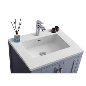 "Laviva Wilson 24"" Cabinet with Matte White VIVA Stone Solid Surface Countertop Laviva Vanities"