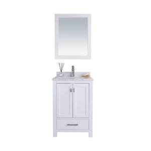 "Laviva Wilson 24"" Cabinet with White Carrara Countertop Laviva Vanities White"