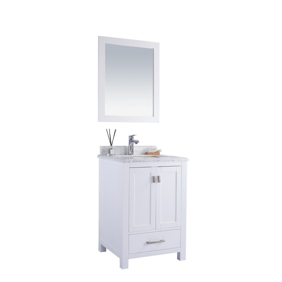 "Laviva Wilson 24"" Cabinet with White Carrara Countertop Laviva Vanities"