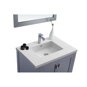 "Laviva Wilson 30"" Cabinet with Matte White VIVA Stone Solid Surface Countertop Laviva Vanities"