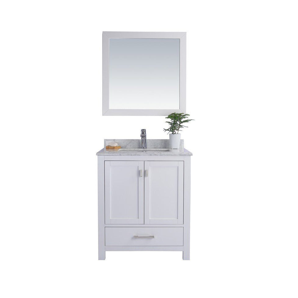 "Laviva Wilson 30"" Cabinet with White Carrara Countertop Laviva Vanities White"
