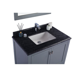 "Laviva Wilson 36"" Cabinet with Black Wood Countertop Laviva Vanities"