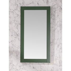 "Legion Furniture 16""x30"" Bathroom Mirror Legion Furniture Mirrors Vogue Green"