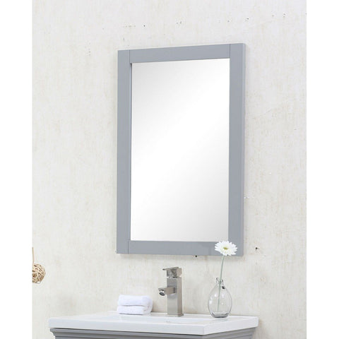 "Legion Furniture 20""x30"" Bathroom Mirror in Gray Legion Furniture Mirrors Gray"