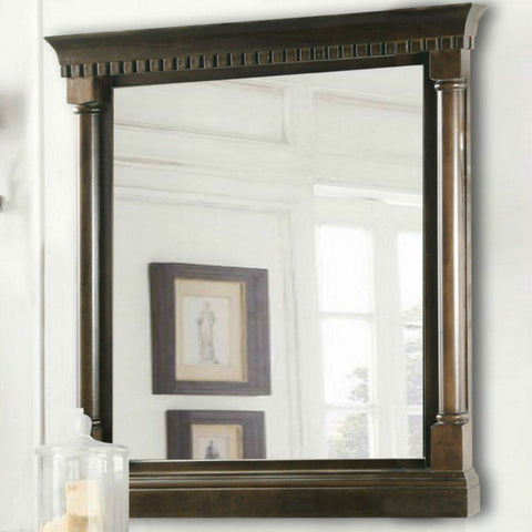 "Legion Furniture 24""x33"" Bathroom Mirror in Antique Coffee Legion Furniture Mirrors Antique Coffee"