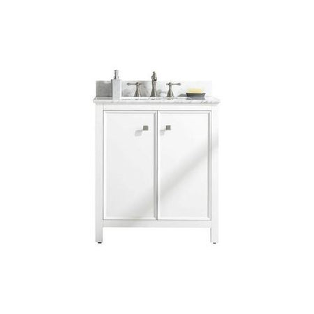 "Legion Furniture 30"" Single-Sink Vanity Cabinet with Marble Top Legion Furniture Vanities White"