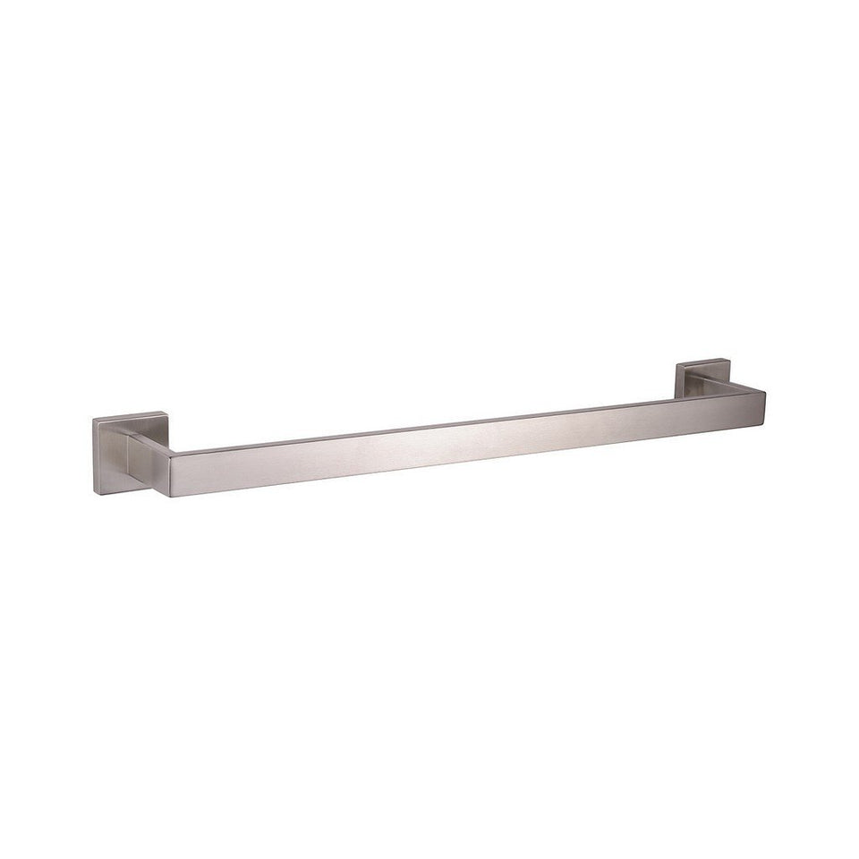 "Lexora Bagno Lucido Stainless Steel 24"" Towel Bar Lexora Towel Bars Satin Nickel"