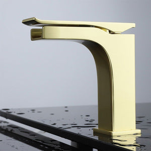 Lexora Balzani Brass Single Hole Waterfall Bathroom Faucet Lexora Faucets