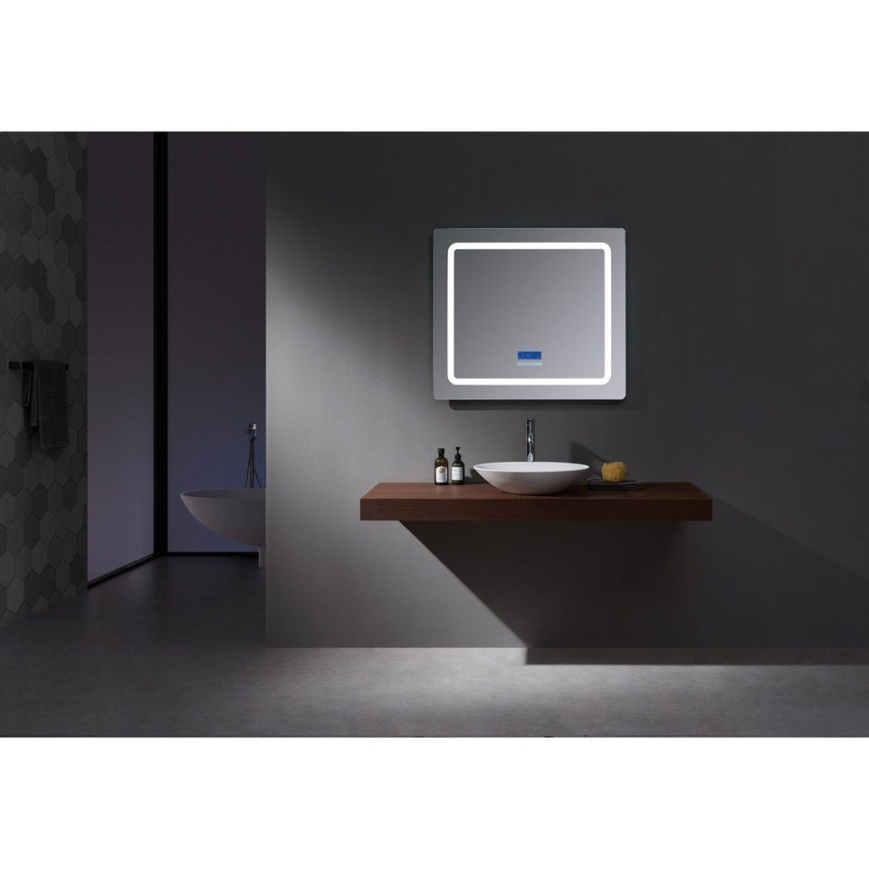 "Lexora Caldona 36"" Wide x 36"" Tall LED Mirror with Defogger Lexora Mirrors"