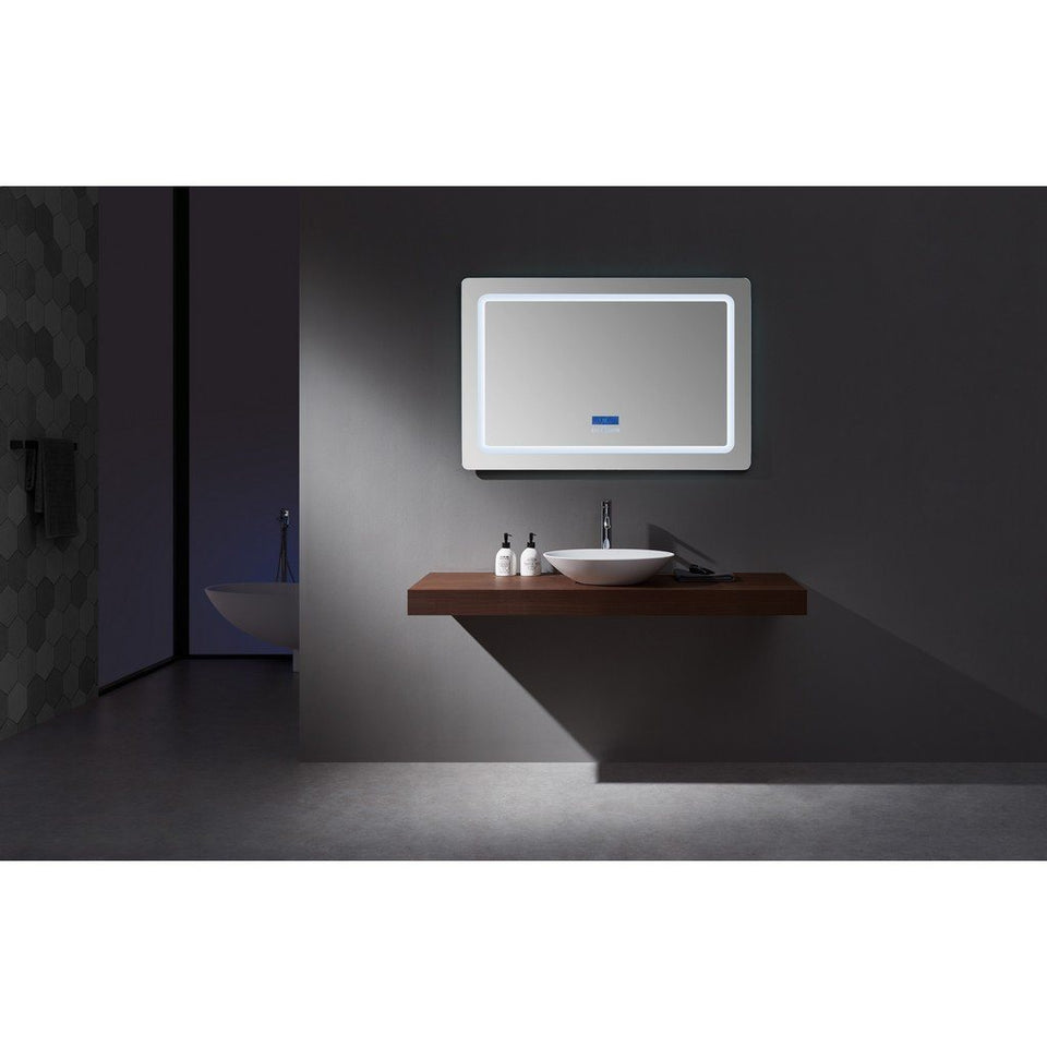 "Lexora Caldona 48"" Wide x 32"" Tall LED Mirror with Defogger Lexora Mirrors"