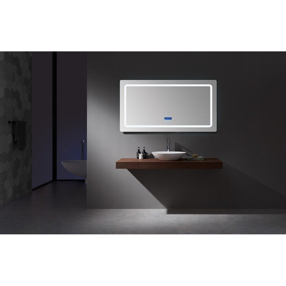 "Lexora Caldona 60"" Wide x 32"" Tall LED Mirror with Defogger Lexora Mirrors"