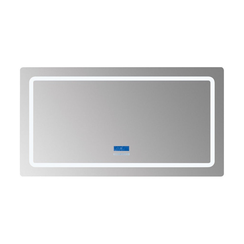 "Lexora Caldona 60"" Wide x 32"" Tall LED Mirror with Defogger Lexora Mirrors Glass"