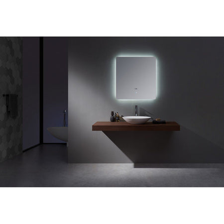 "Lexora Lugano 30"" Wide x 32"" Tall LED Mirror with Defogger Lexora Mirrors"