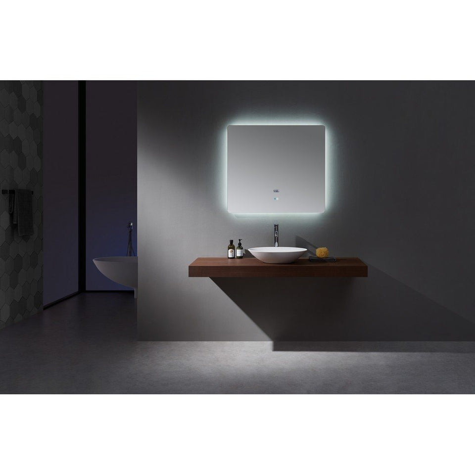 "Lexora Lugano 36"" Wide x 32"" Tall LED Mirror with Defogger Lexora Mirrors"