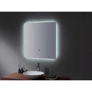 "Lexora Lugano 36"" Wide x 36"" Tall LED Mirror with Defogger Lexora Mirrors"
