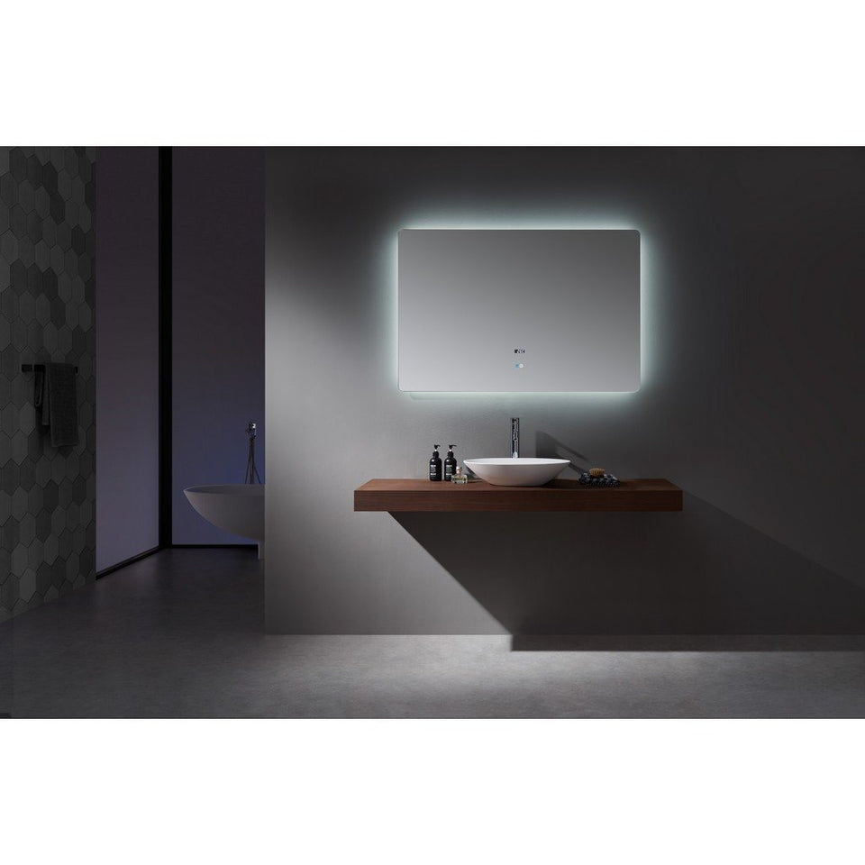 "Lexora Lugano 48"" Wide x 32"" Tall LED Mirror with Defogger Lexora Mirrors"