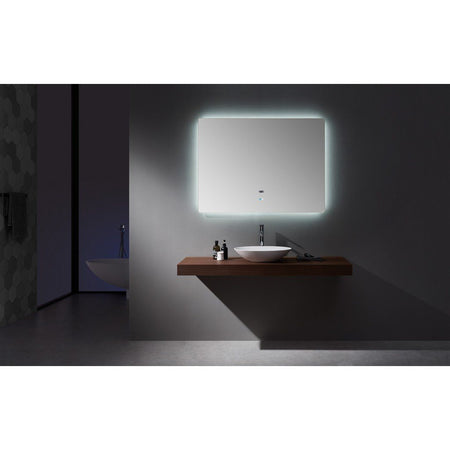 "Lexora Lugano 48"" Wide x 36"" Tall LED Mirror with Defogger Lexora Mirrors"
