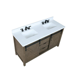 "Lexora Marsyas 60"" Double Vanity, White Quartz Top and 24"" Mirrors Lexora 60 inch Double Vanity"