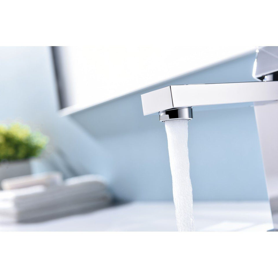 Lexora Monte Stainless Steel Single Hole Bathroom Faucet Lexora Faucets