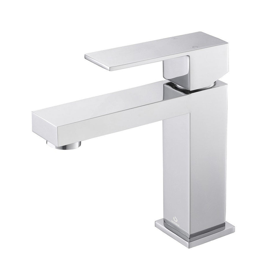 Lexora Monte Stainless Steel Single Hole Bathroom Faucet Lexora Faucets Chrome