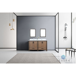 "Lexora Ziva 60"" Double Vanity, Cultured Marble Top and 22"" Mirrors Lexora 60 inch Double Vanity"