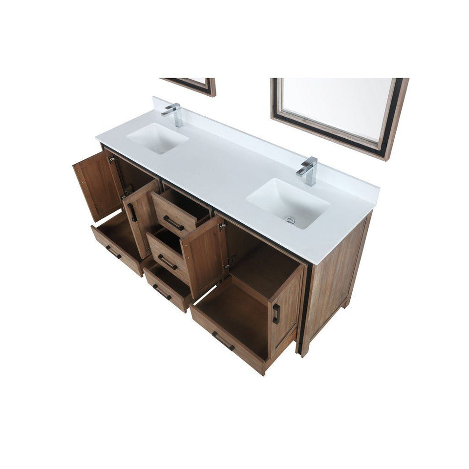"Lexora Ziva 72"" Double Vanity with Cultured Marble Top Lexora 72 inch and larger Double Vanity"