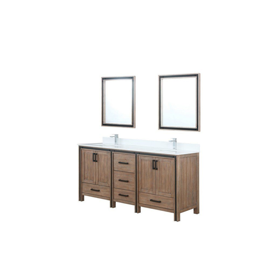 "Lexora Ziva 72"" Double Vanity with Cultured Marble Top Lexora 72 inch and larger Double Vanity Rustic Barnwood"