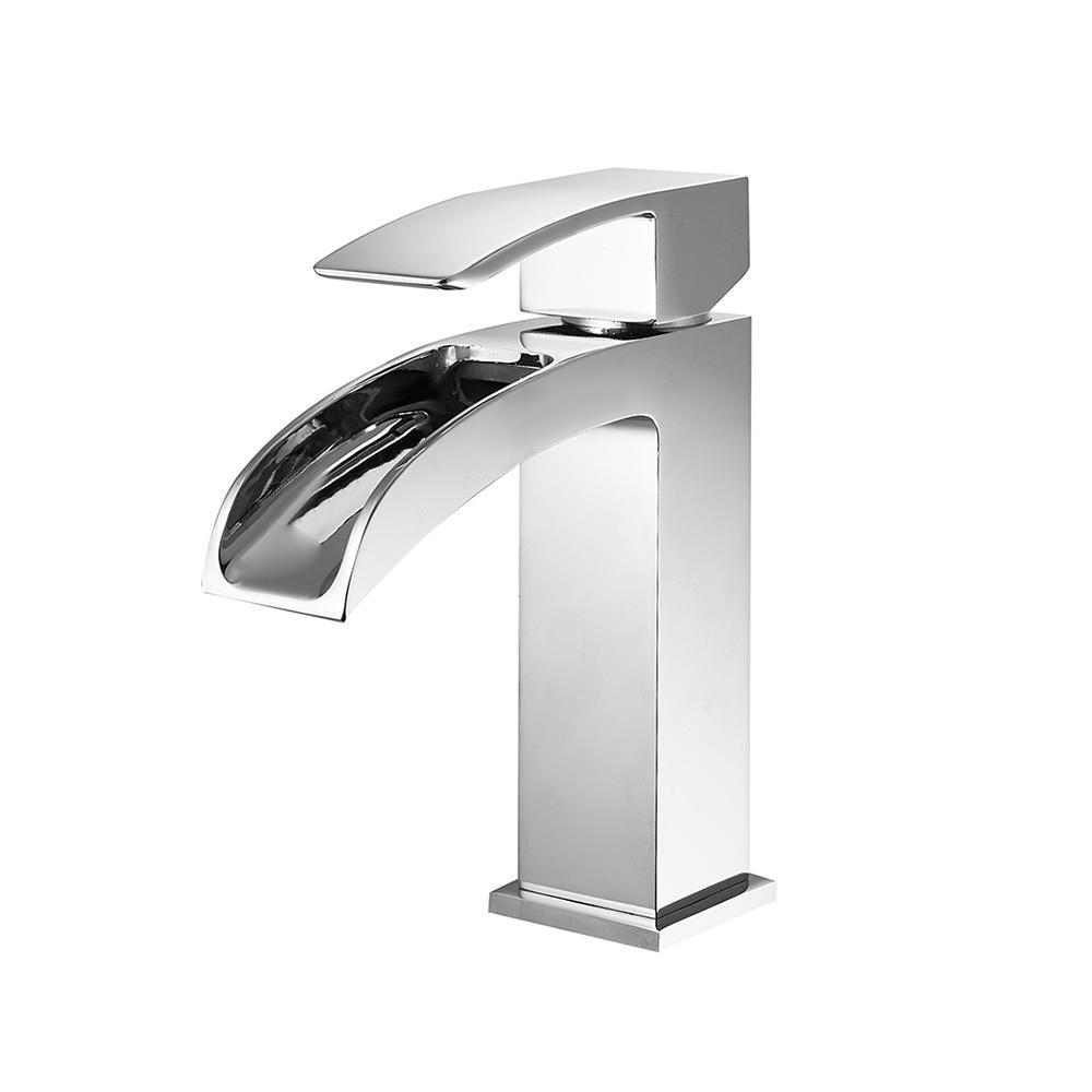 Liberty Single-Handle Basin Bathroom Faucet Vinnova Faucets Polished Chrome