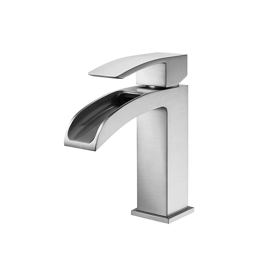 Liberty Single-Handle Basin Bathroom Faucet Vinnova Faucets Satin Nickel