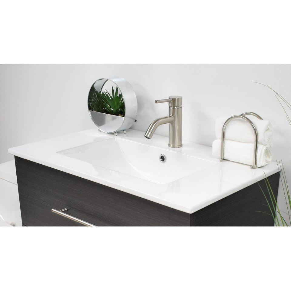 "Napa 24"" Modern Wall-Mounted Floating Bathroom Vanity with Ceramic Top and Round Handles MTD Vanities Vanities"