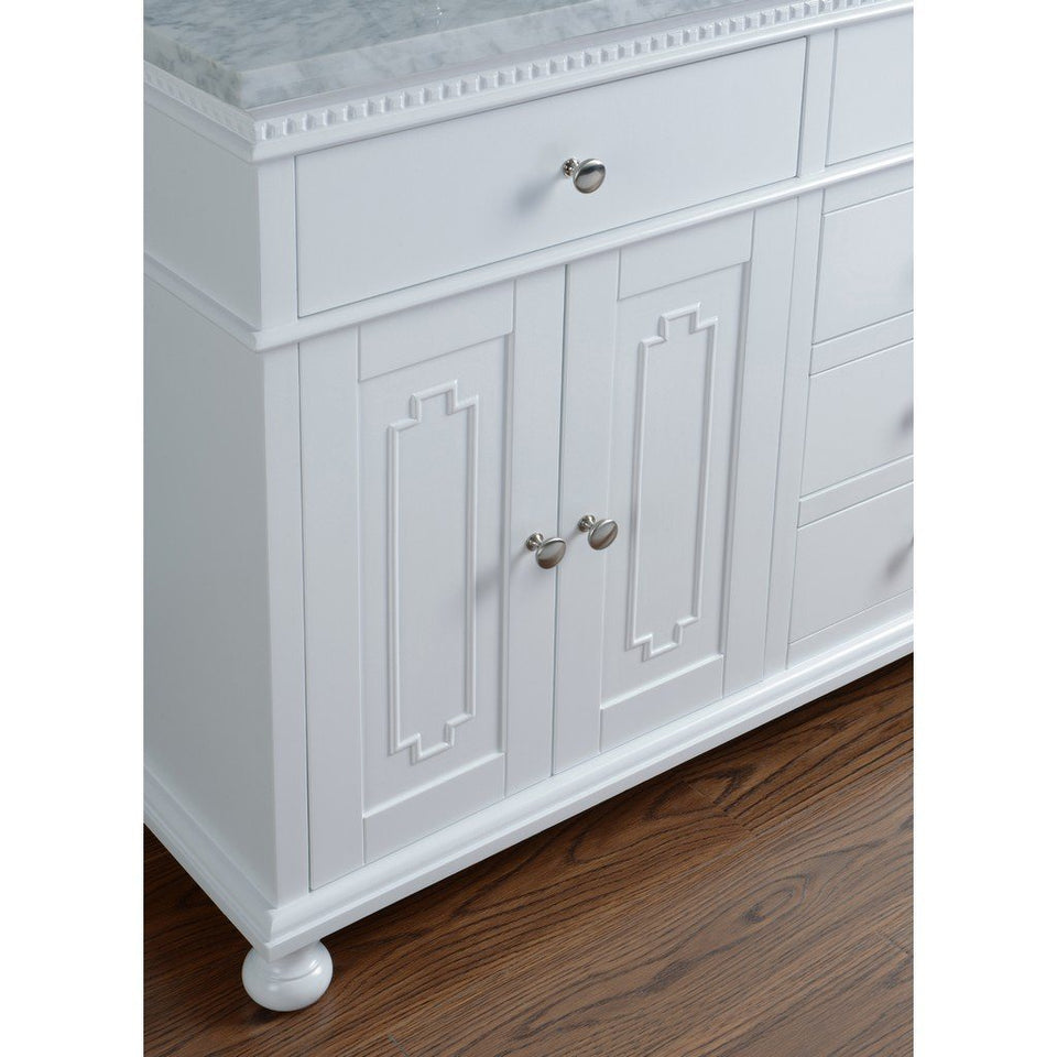 "Stufurhome Abigail Embellished 60"" Double Sink Bathroom Vanity Stufurhome 60 inch Double Vanity"