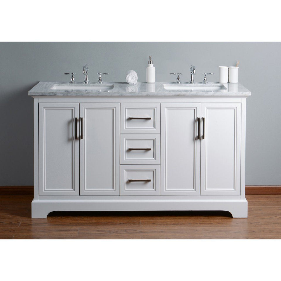 "Stufurhome Ariane 60"" Double Vanity Cabinet Dual Bathroom Sinks Stufurhome 60 inch Double Vanity"