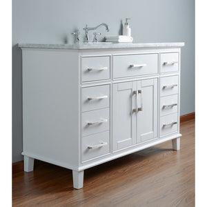 "Stufurhome Leigh 48"" Single Sink Bathroom Vanity Stufurhome 48 inch Single Vanity"