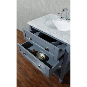 "Stufurhome Marla 30"" Single Sink Bathroom Vanity Stufurhome 30 inch Single Vanity"