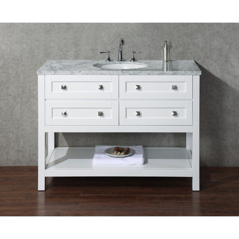 "Stufurhome Marla 48"" Single Sink Bathroom Vanity Stufurhome 48 inch Single Vanity"