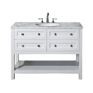 "Stufurhome Marla 48"" Single Sink Bathroom Vanity Stufurhome 48 inch Single Vanity White"