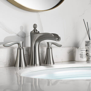 Ukiah Two Handle 8 Inch Widespread Bathroom Faucet Vinnova Faucets