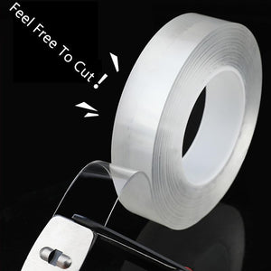 Waterproof Double Sided Reusable Non-slip Nano Tape