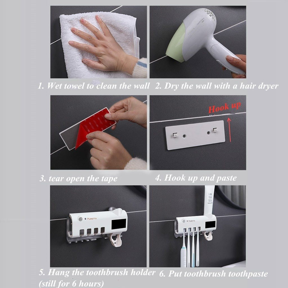 ANTI-BACTERIAL UV TOOTHBRUSH STERILIZER