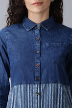 Load image into Gallery viewer, Dual Tone Denim Kurti