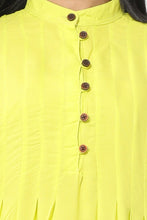 Load image into Gallery viewer, Neon Yellow Kurti