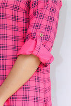 Load image into Gallery viewer, Pink checked kurti
