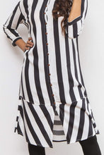 Load image into Gallery viewer, Black and White Striped Kurti