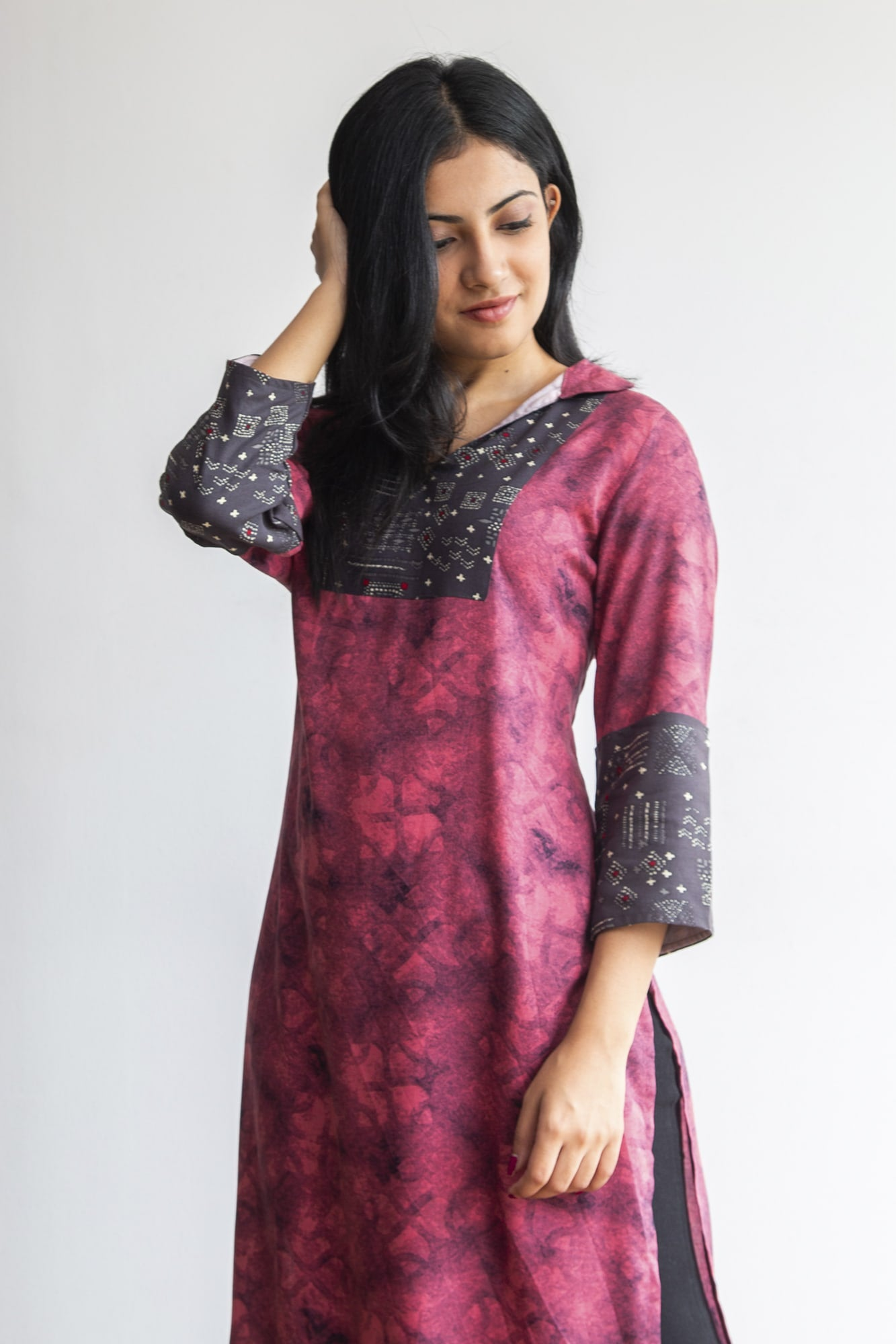 Rose patterned kurti