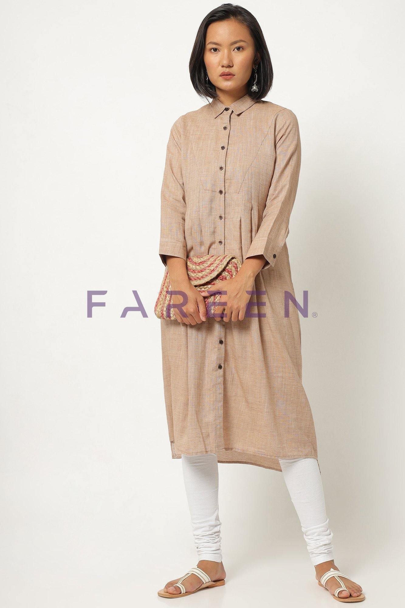 Collored Cream Kurti